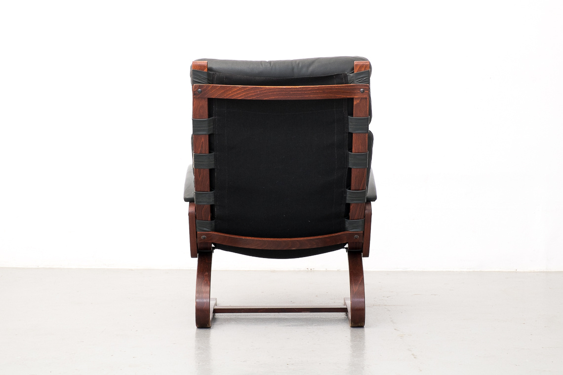 Kengu Armchair with Ottoman by Elsa & Nordahl Solheim for Rybo Rykken