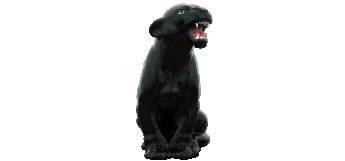 baby Black Panther (30CM) italian ceramic sculpture