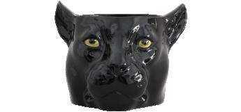 BLACK Panther Flower Pot (Ø25CM) Italian Ceramic