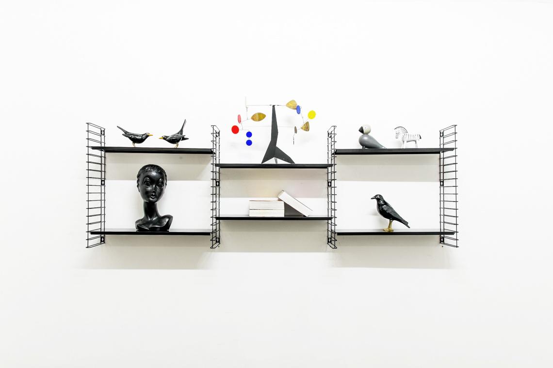 2 PACK Black Shelf by D. Dekker for Tomado
