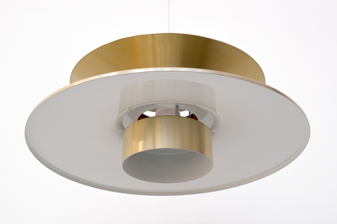 Large aluminium gold Pendant Light by Lyskaer Belysning