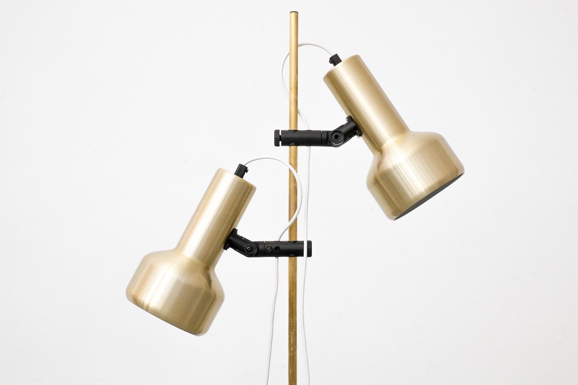 gold floor lamp of E.S. HORN DENMARK