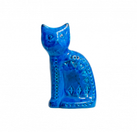 ALDO LONDI RIMINI BLU CERAMIC CAT FOR BITOSSI