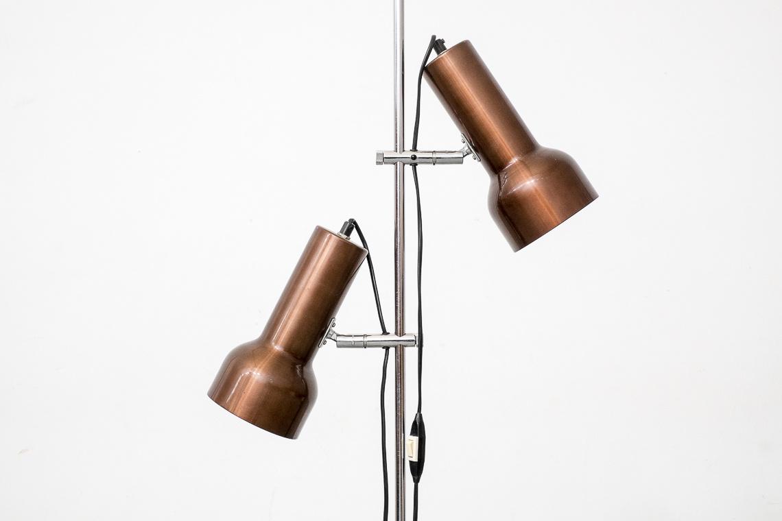 DANISH FLOOR LAMP IN COPPER COLOUR