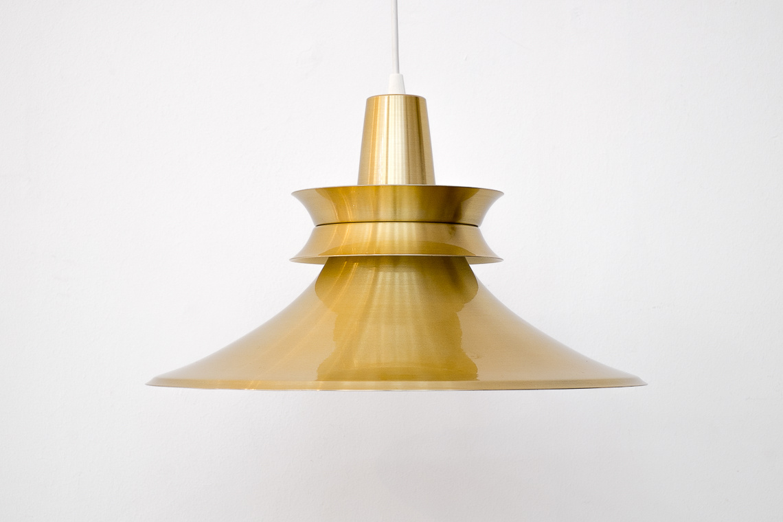 ALUMINIUM GOLD PENDANT LIGHT BY R. VAN INGEN