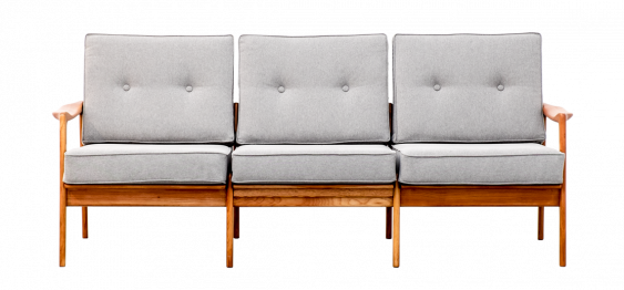 Scandinavian Three-Seat Sofa