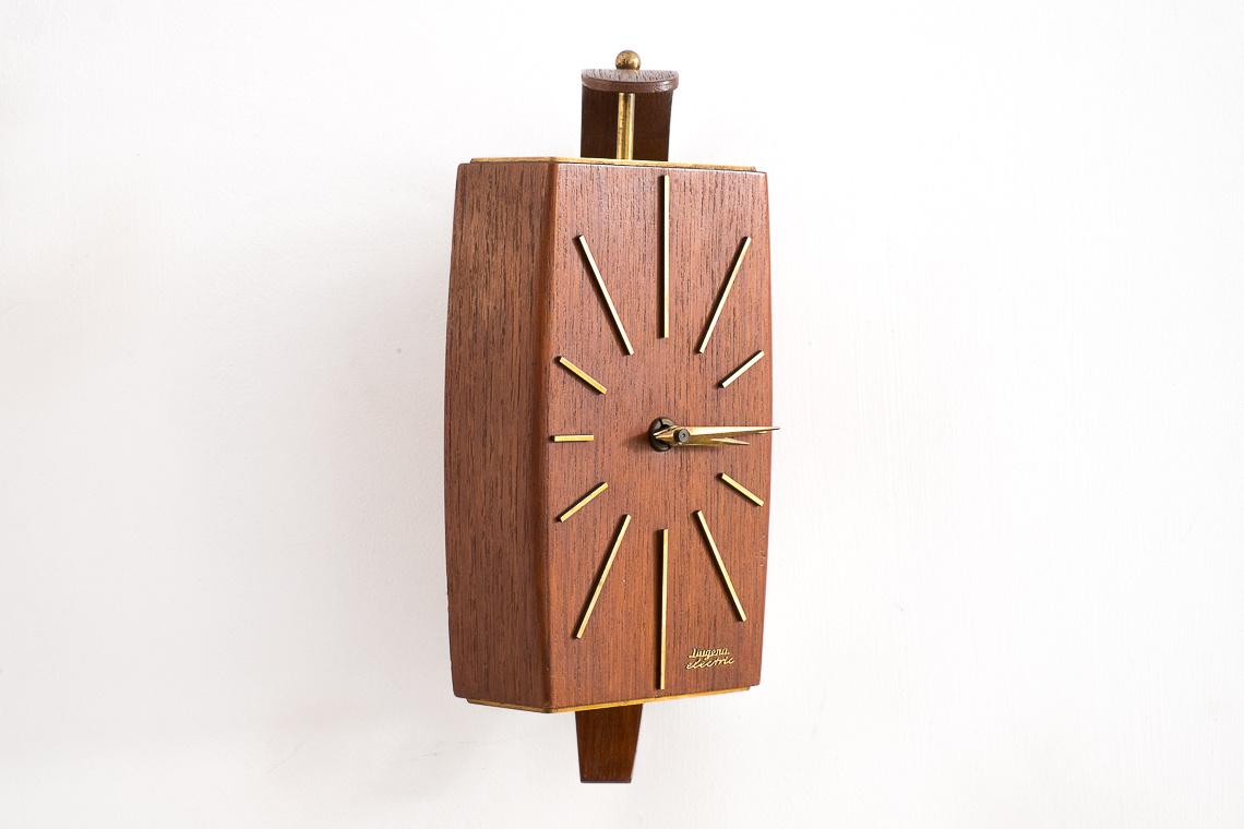 Teak Wall Clock from Dugena