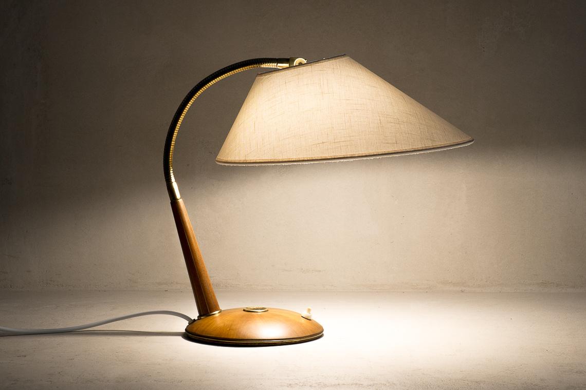 Model 31 Teak Lamp from Temde AG