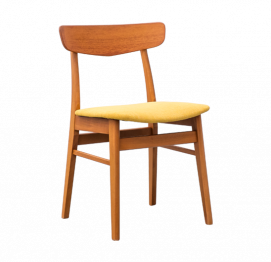 Set of 4 Mosbøl dining chairs by Findahls Møbelfabrik