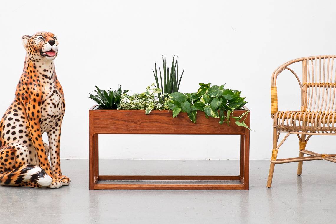 Teak Planter by Aksel Kjersgaard
