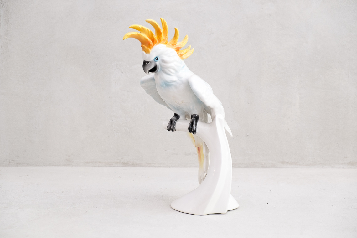 COCKATOO HAND PAINTED CERAMIC