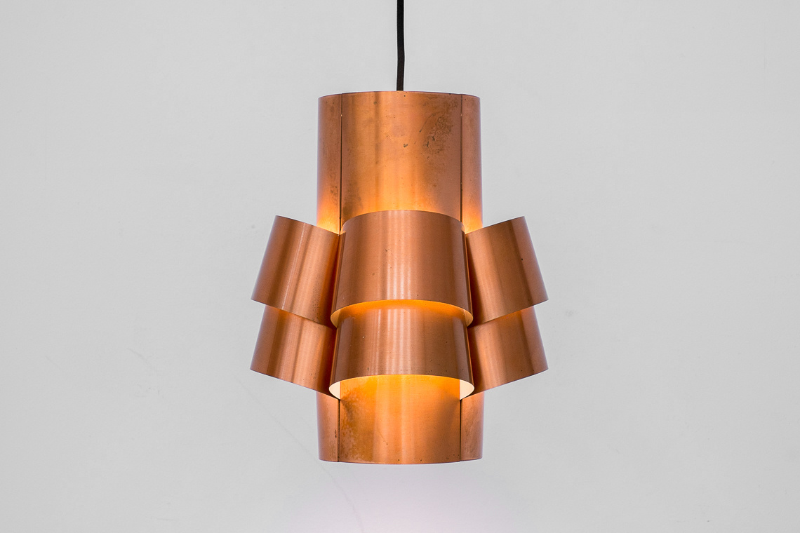 Sculptural Pendant Lamp in Brass by Hans-Agne Jakobsson FOR AB Markaryd