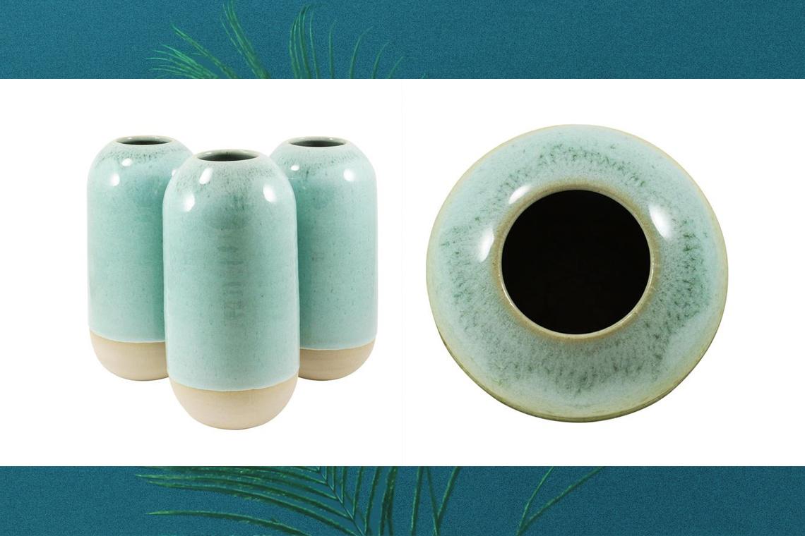 Yuki Vase Finland Forest blue