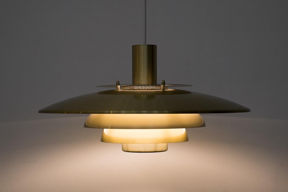 SUSPENSION GOLDEN LAMP VERONA FROM JEKA