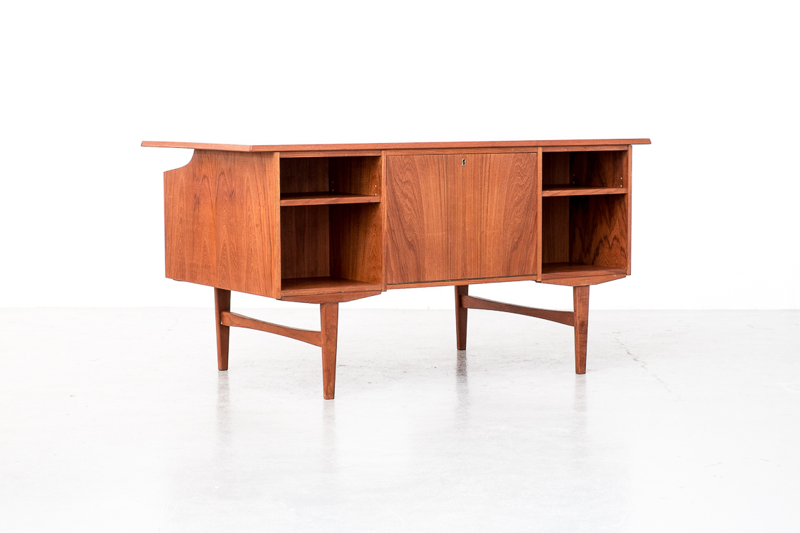Danish Double Sided Teak Desk