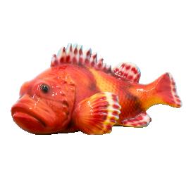 red scorpionfish (20x41CM) Ceramic Italy Sculpture