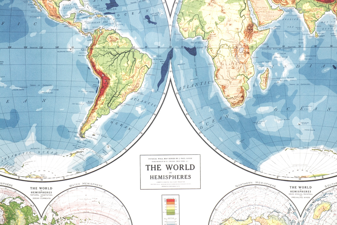 WORLD hemisphere MAP