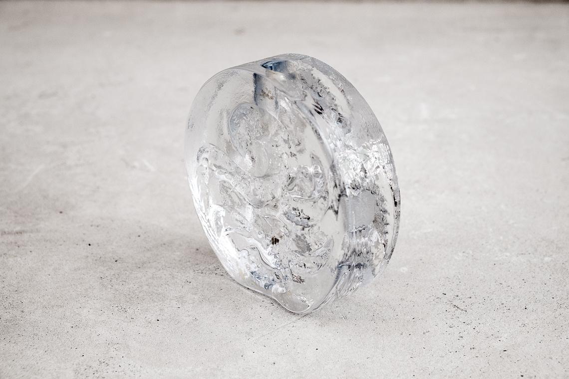 GLASS BUD VASEL BY KURT WOKAN FOR INGRID GLASS
