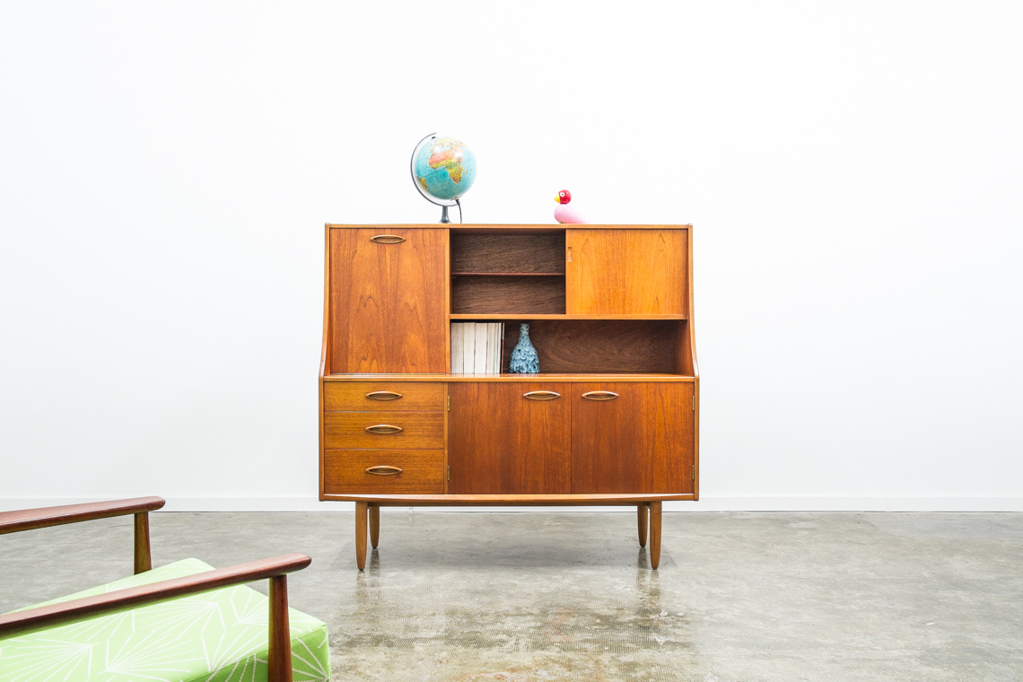 TEAK HIGHBOARD OR BUREAU BY JENTIQUE