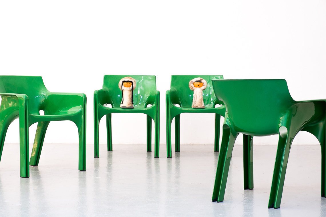 Set of 4 Gaudi Chairs by Vico Magistretti for Artemide