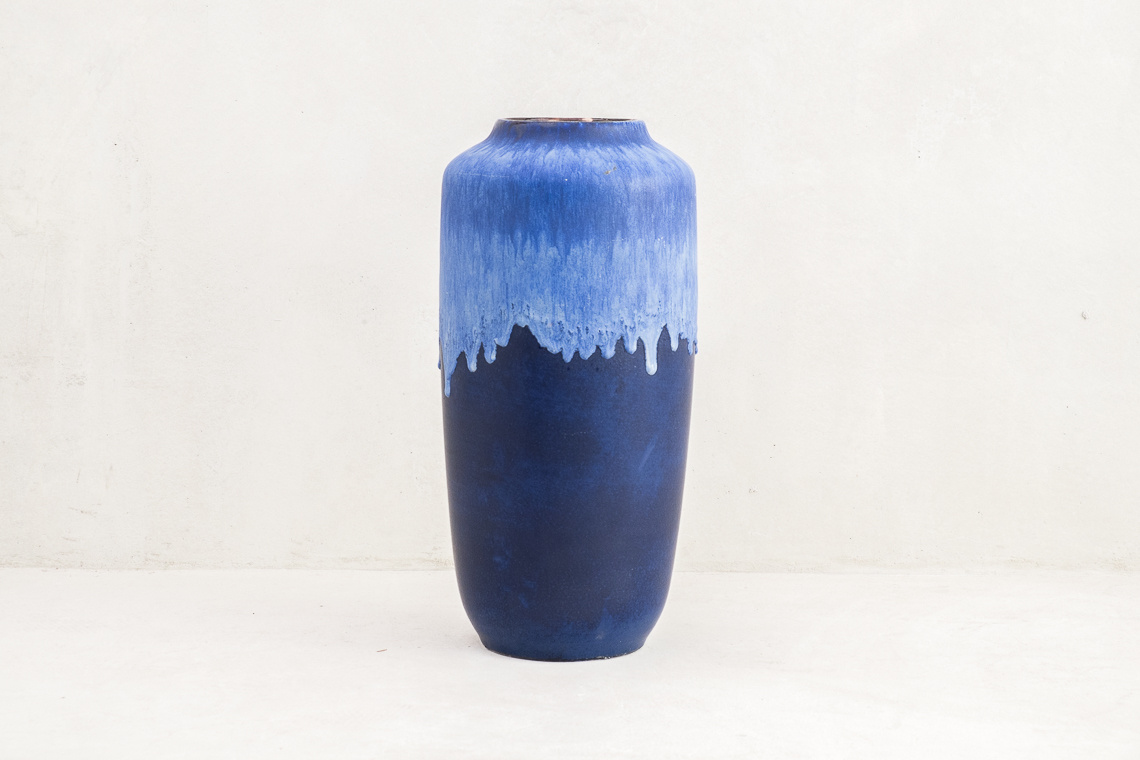 Scheurich West German Pottery Vase Fat Lava