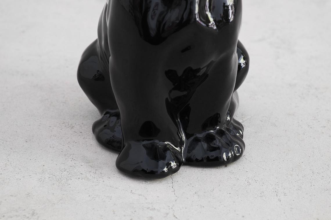 BLACK PANTHER (16CM) ITALIAN CERAMIC SCULPTURE