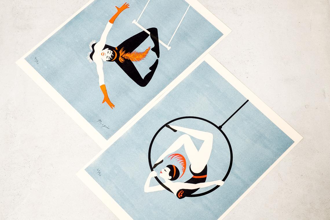 Risography Acrobat trapeze by El Marquès