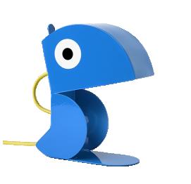 Blue Parrot Lamp