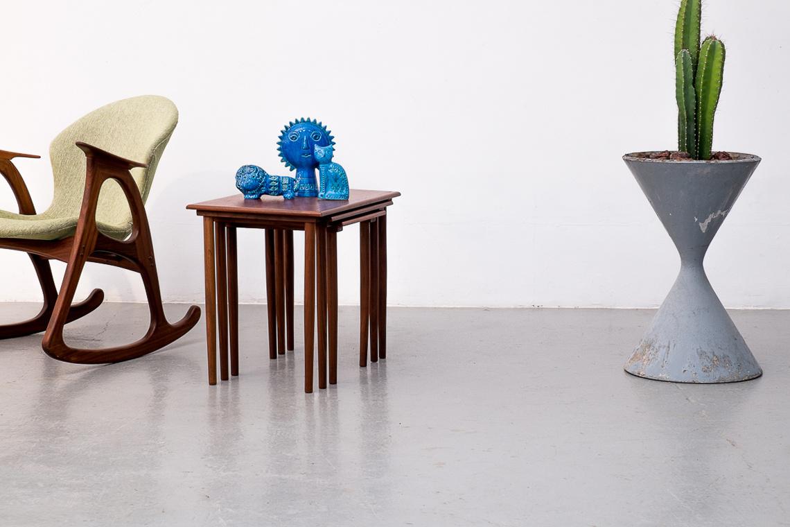 Teak Nesting Tables by Fabian Denmark