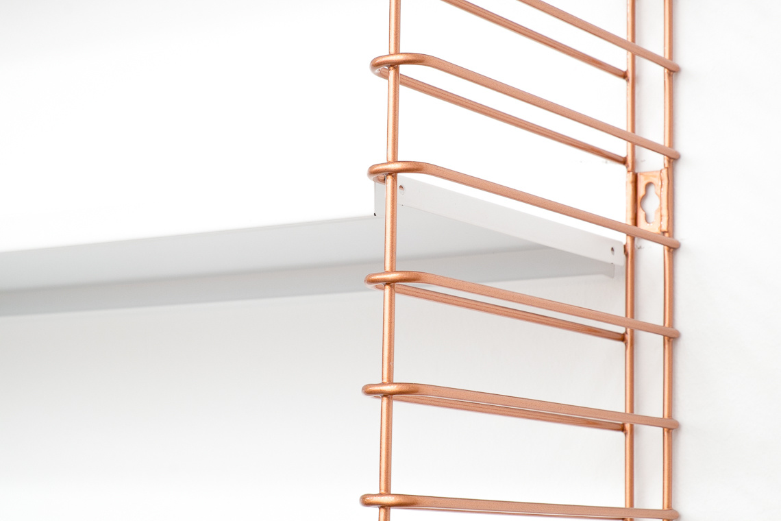 TOMADO Shelving in Copper & White