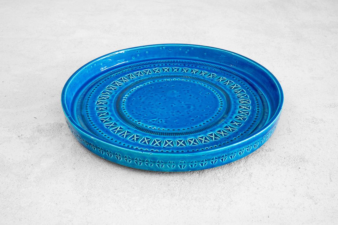 CERAMIC Bowl (Ø29CM) FROM RIMINI BLUE SERIES BY ALDO LONDI FOR BITOSSI