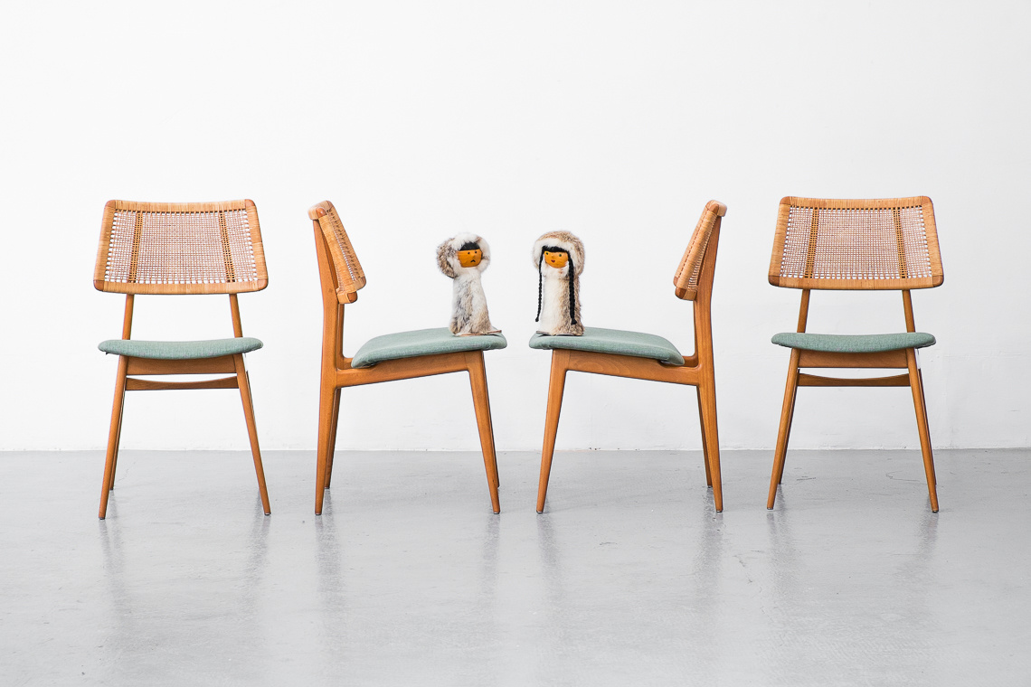 Set of 4 Dining Chairs Model 339 from Habeo