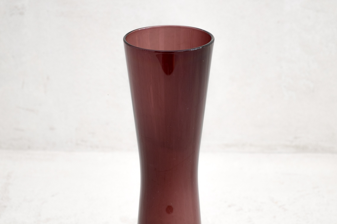 Mid-Century Purple Glass Vase BY Ingrid Glas