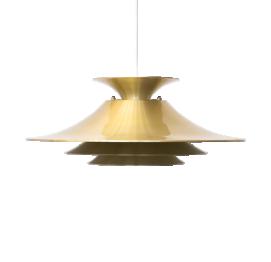 Mid-Century Danish GOLDEN Pendant LAMP from Frandsen Belysning