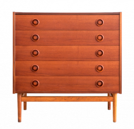 Chest of 5 Drawers MADE IN Denmark