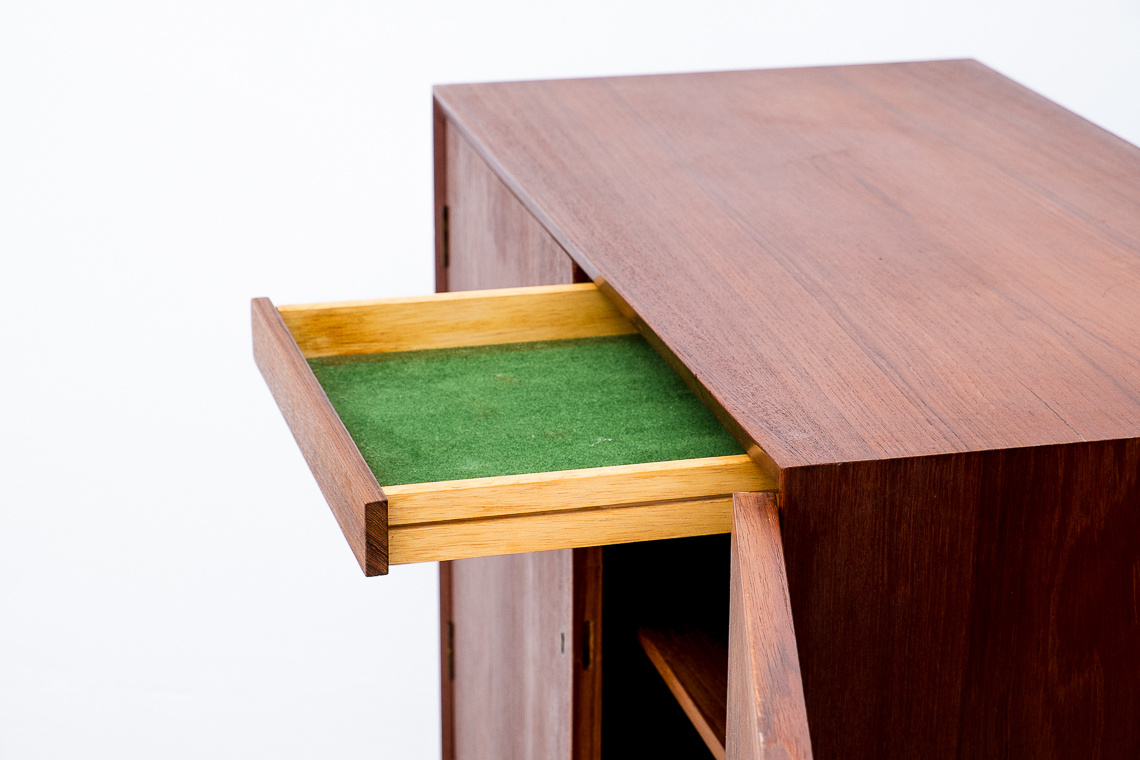 Mid-Century Modern Danish Teak Bar Cabinet