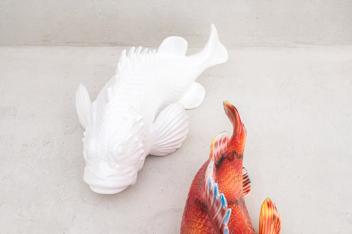 White Ceramic Fish Ornament