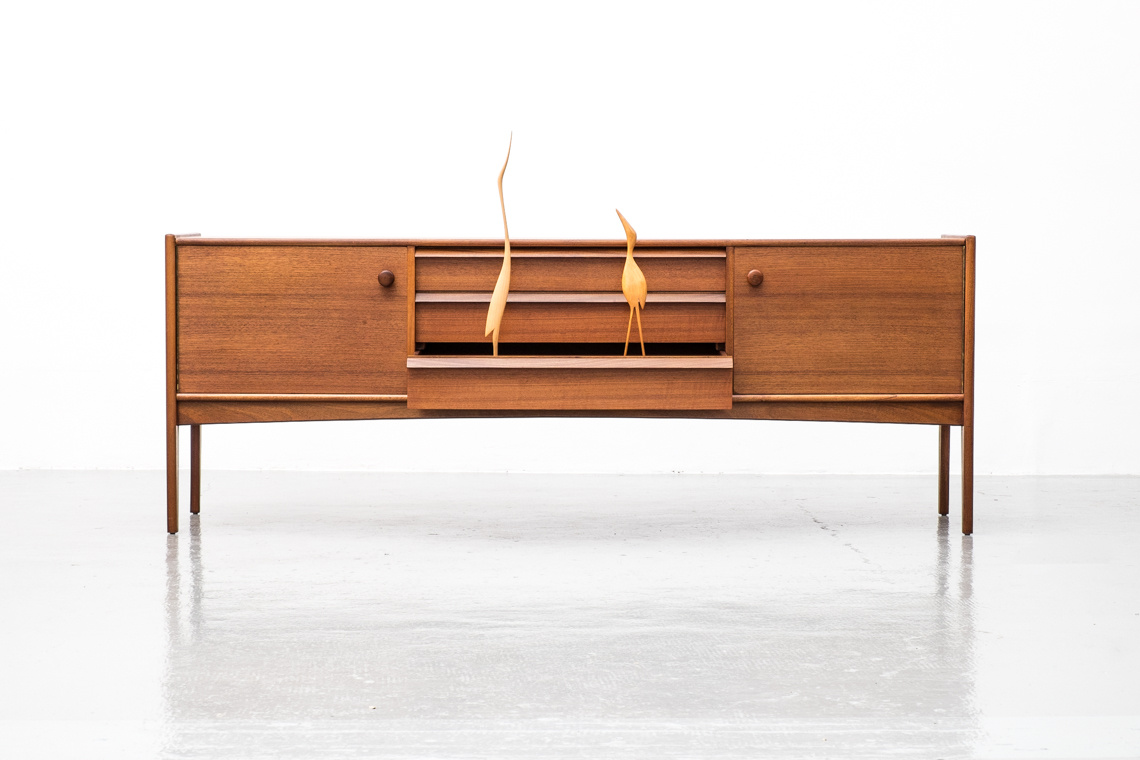 YOUNGER DA SILVA TEAK SIDEBOARD DESIGNED BY JOHN J HERBERT