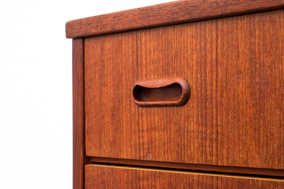 Teak Chest of 6 Drawers BY SW FINLAND