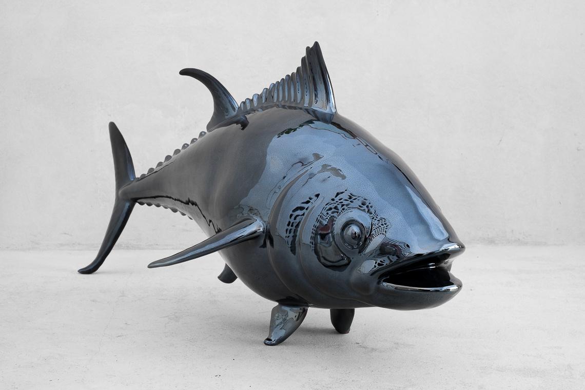 The blackfin tuna (36x85CM) ITALIAN CERAMIC SCULPTURE