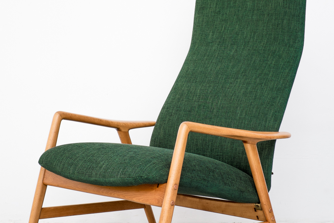 Alf Svensson Kontour Reclining Lounge Chair for Fritz Hansen Denmark