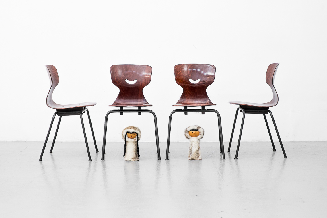 SET OF 4 Industrial Chairs by Adam Stegner for Pagholz Flötotto