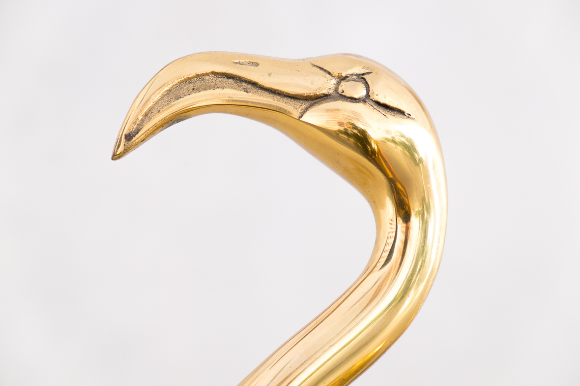 Two brass high end flamingos by Gilde handwerk