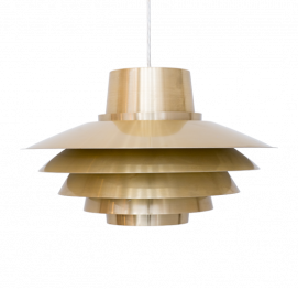 Brassed Verona Pendant Light by Svend Middelboe for Nordisk Solar
