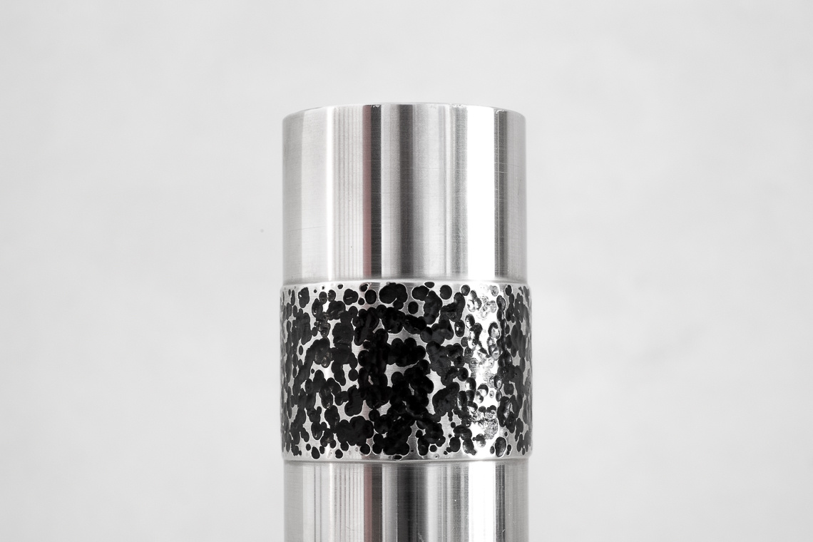 GERMAN METAL BRUTALIST VASE