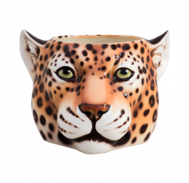 LEOPARD FLOWER POT (Ø15CM) ITALIAN CERAMIC