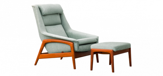 Lounge Chair & Ottoman PROFIL by Folke Ohlsson for Dux