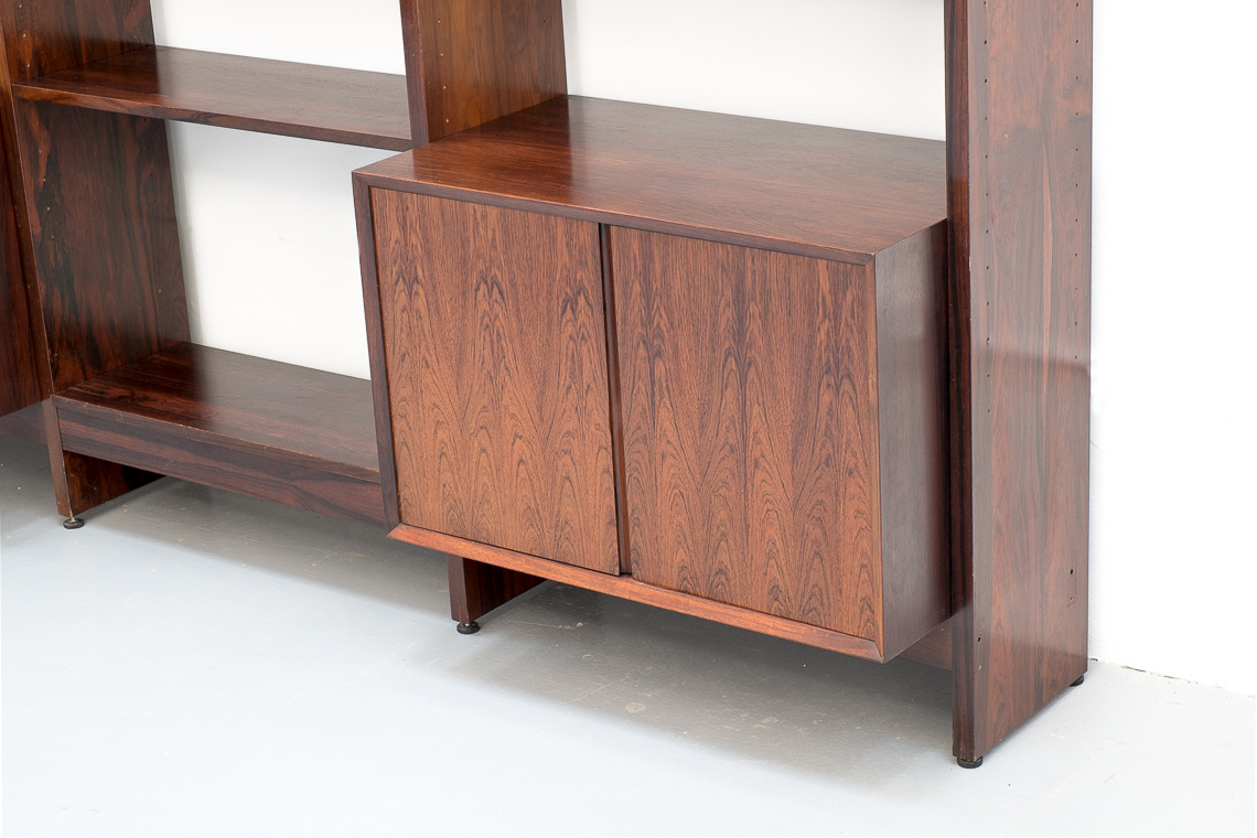 Huge Rosewood Wall Unit Bookcase by Poul Cadovius