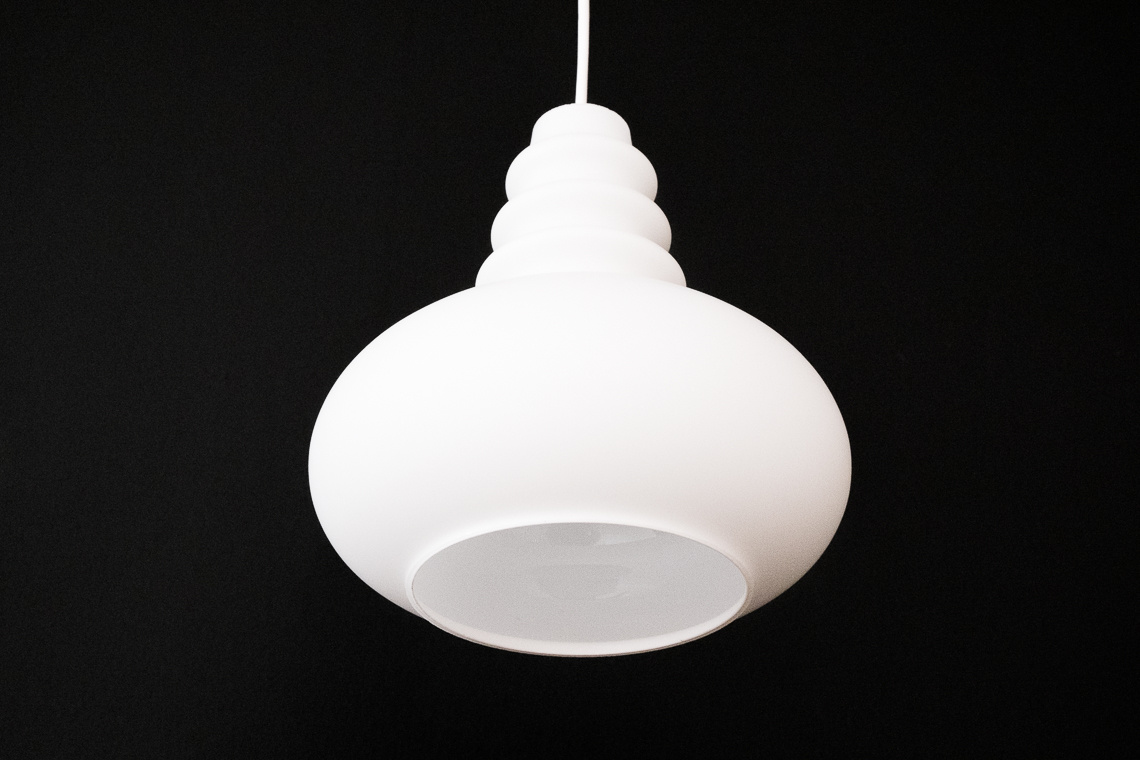 Frosted Glass Ceiling Lamp from Peill & Putzler