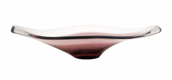 Hand Blown Glass Dish by Bayel France